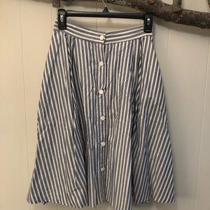 Zara front button circle skirt